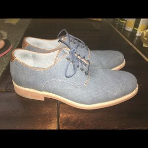 Johnston & Murphy Denim Linen Shoes